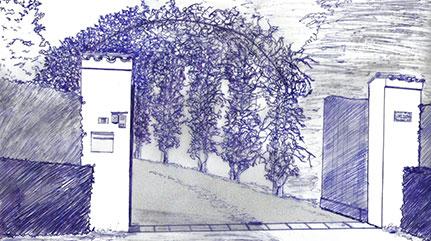 Repenser l'entrée du jardin d'une belle maison du Pays Basque