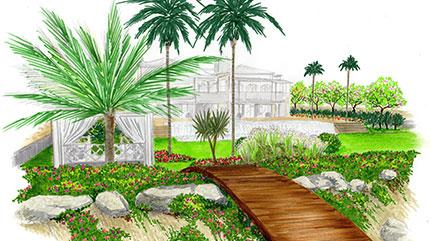 Un jardin sur la plage à Panama